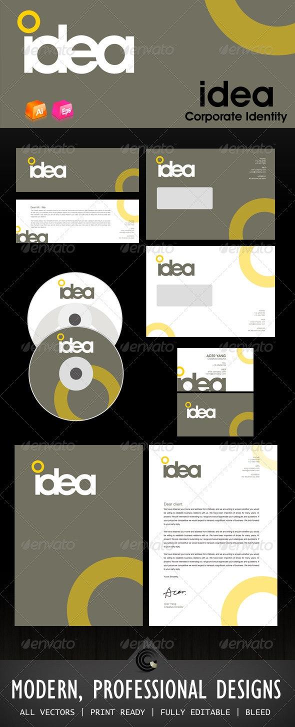 Idea Design Corporate Identity - Stationery Print Templates