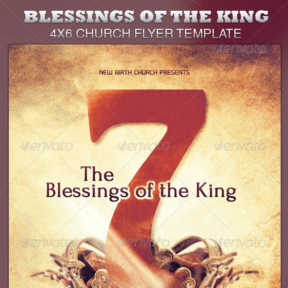 Seven Blessings of the King Church Flyer Template