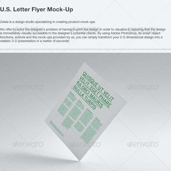 U.S. Letter Flyer Mock-Up