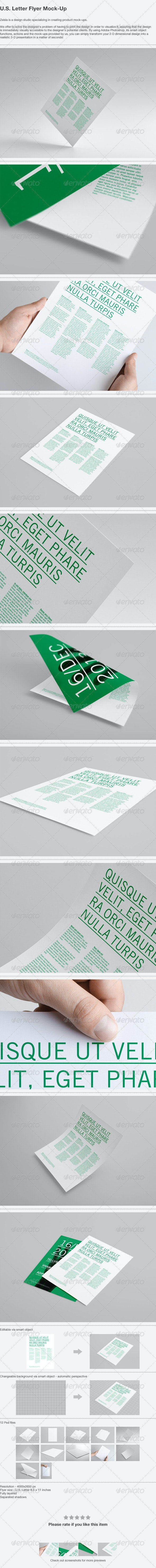 U.S. Letter Flyer Mock-Up - Print Product Mock-Ups