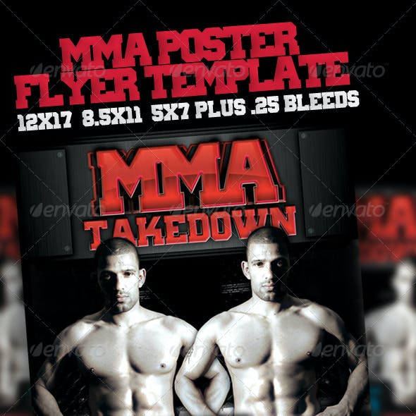 MMA Event Poster