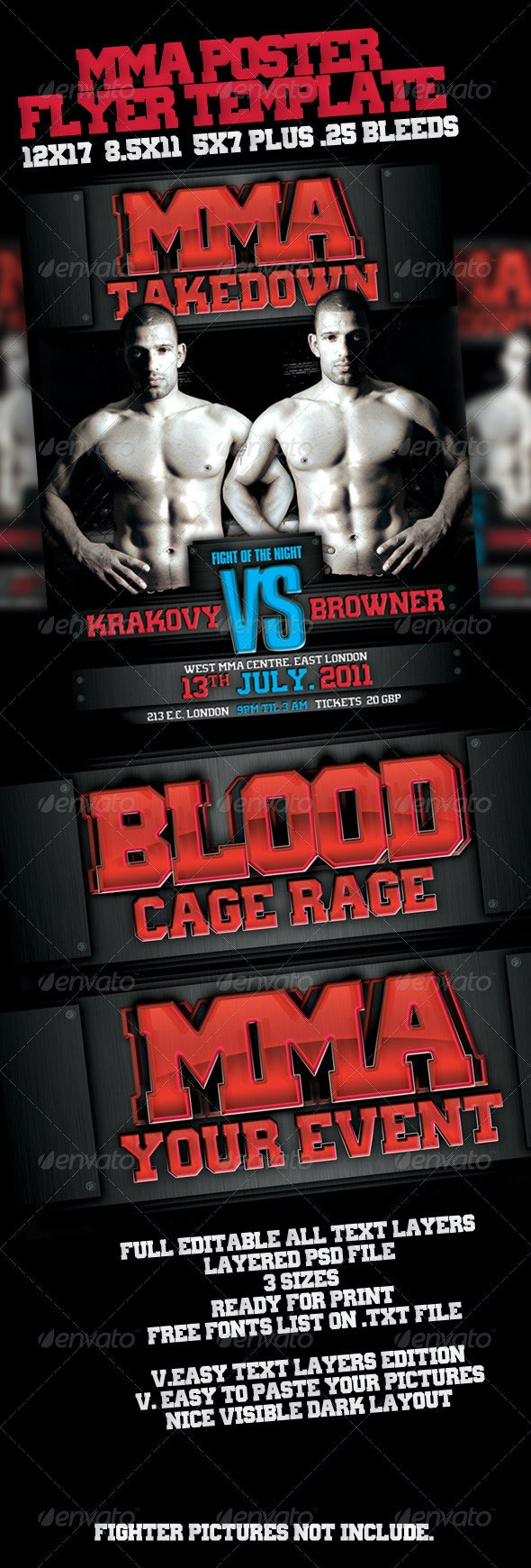 MMA Event Poster - Sports Events