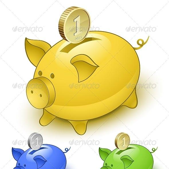 Piggy Bank Set
