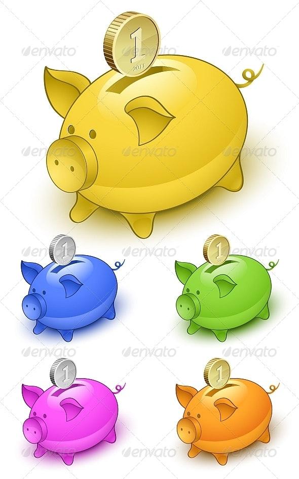 Piggy Bank Set - Concepts Business