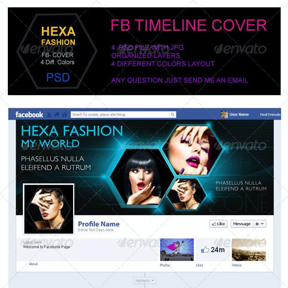 Hexa Fashion FB Timeline Cover
