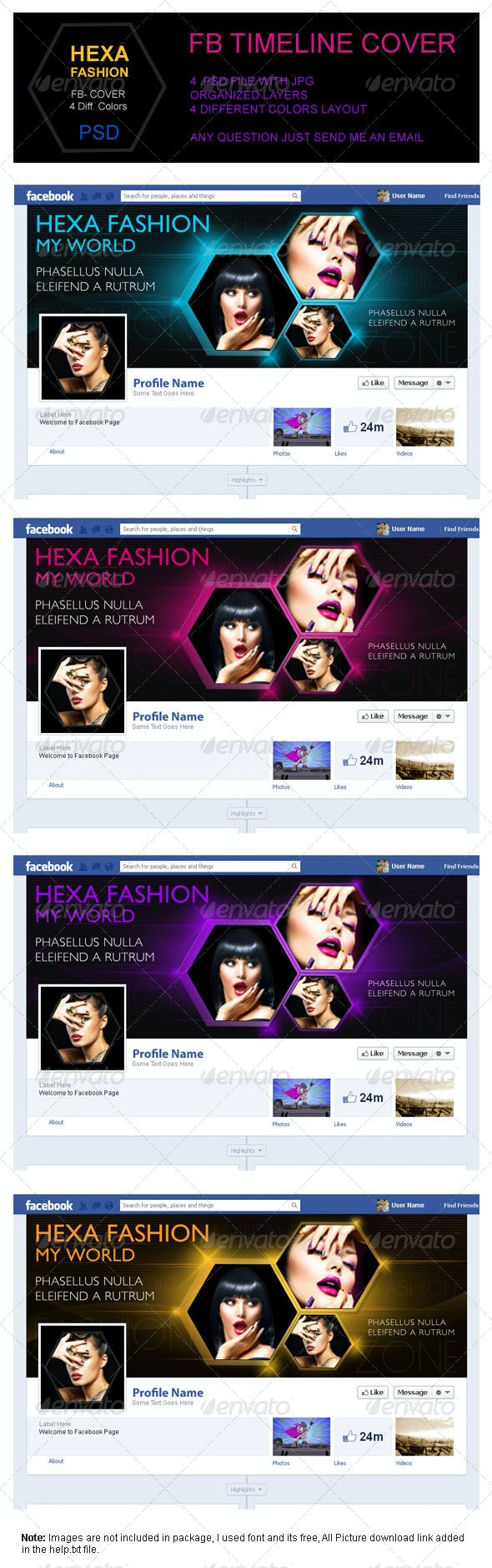 Hexa Fashion FB Timeline Cover - Facebook Timeline Covers Social Media