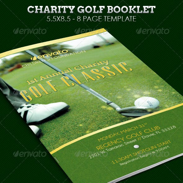 Charity Golf Booklet Template