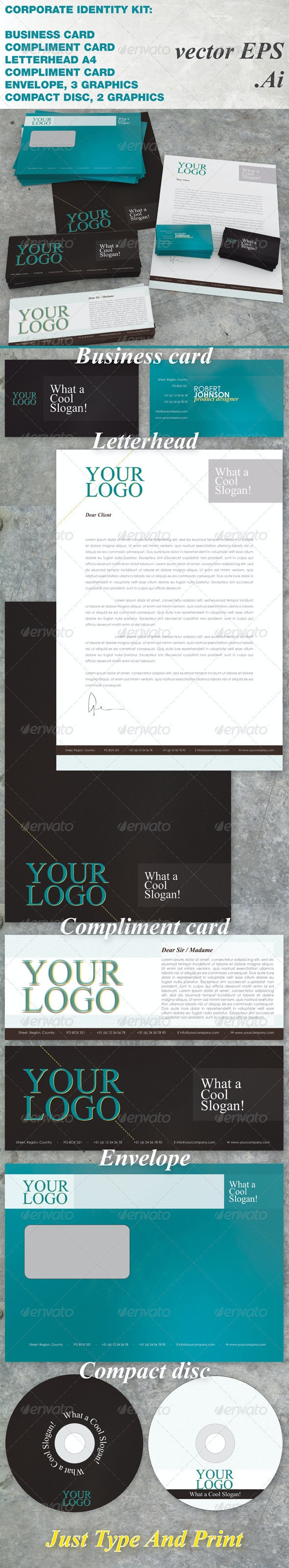 Anothergraphic Corporate Identity - Stationery Print Templates
