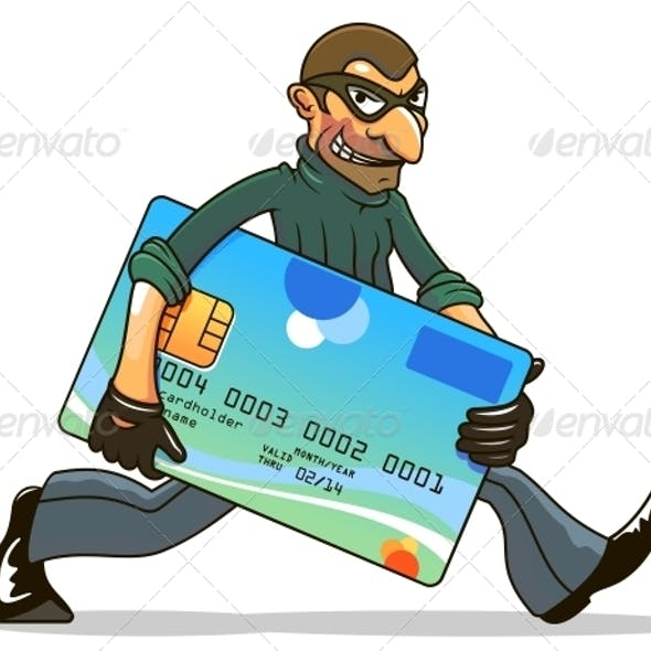 Hacker or Thief Stealing Credit Card
