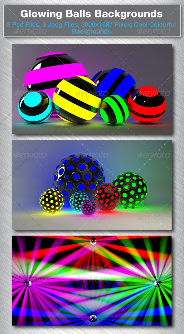 3D Glowing Balls - 3D Backgrounds