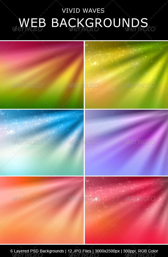 Vivid Waves Backgrounds - Backgrounds Graphics