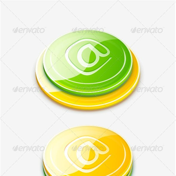 3d vector glossy buttons