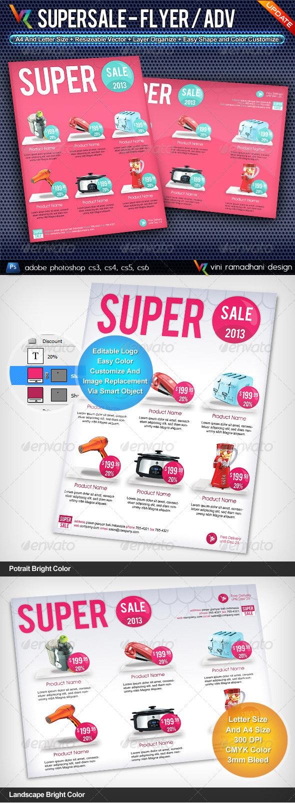Super Sale Flyer Or Advertising - Commerce Flyers