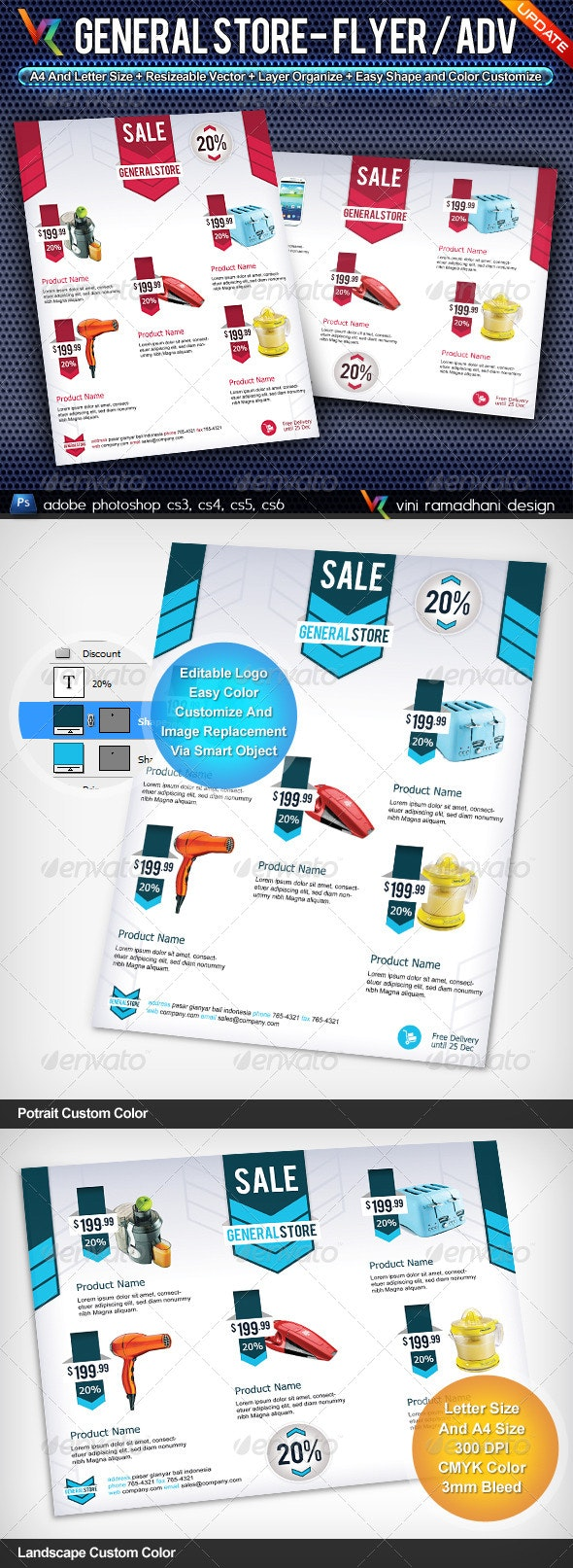 General Store Flyer Or Advertising - Corporate Flyers