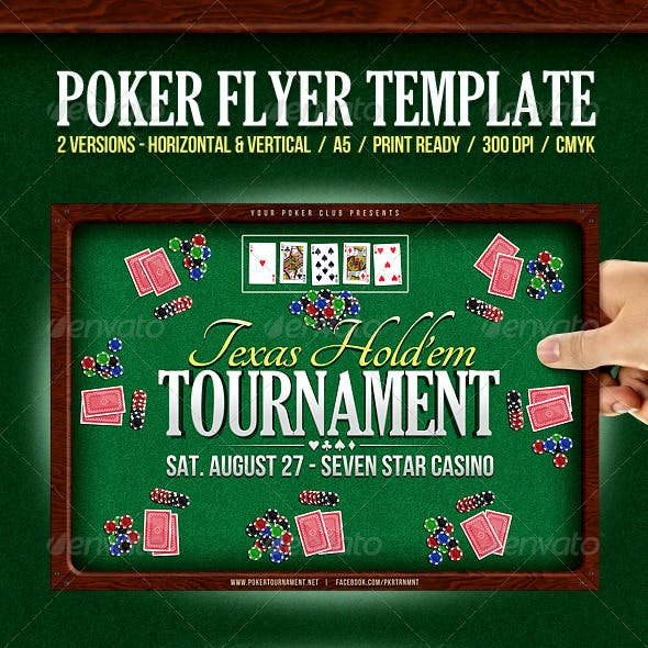 Poker Event Flyer | Horizontal & Vertical versions