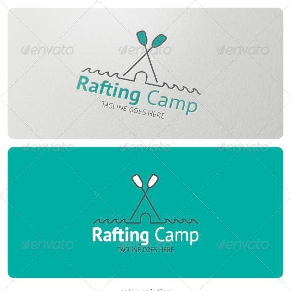 Rafting Camp Logo Template