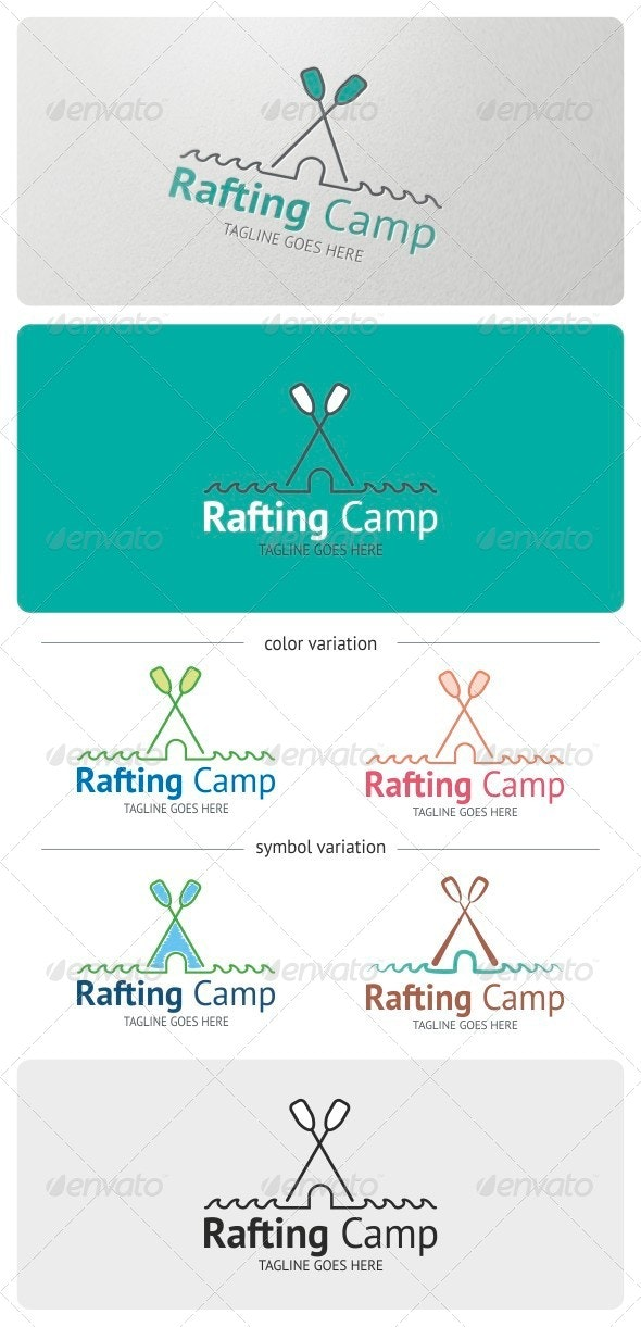 Rafting Camp Logo Template - Nature Logo Templates