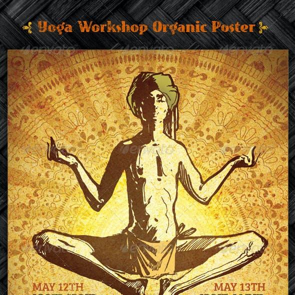 Yoga Workshop Organic Poster Template