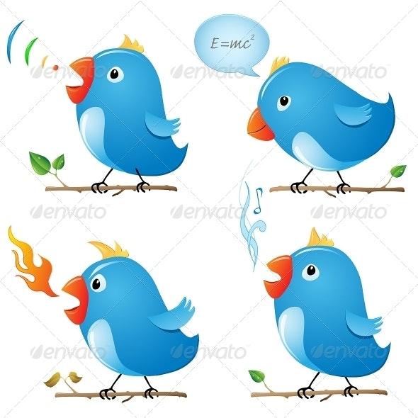 Vector Twitter Birds - Animals Characters