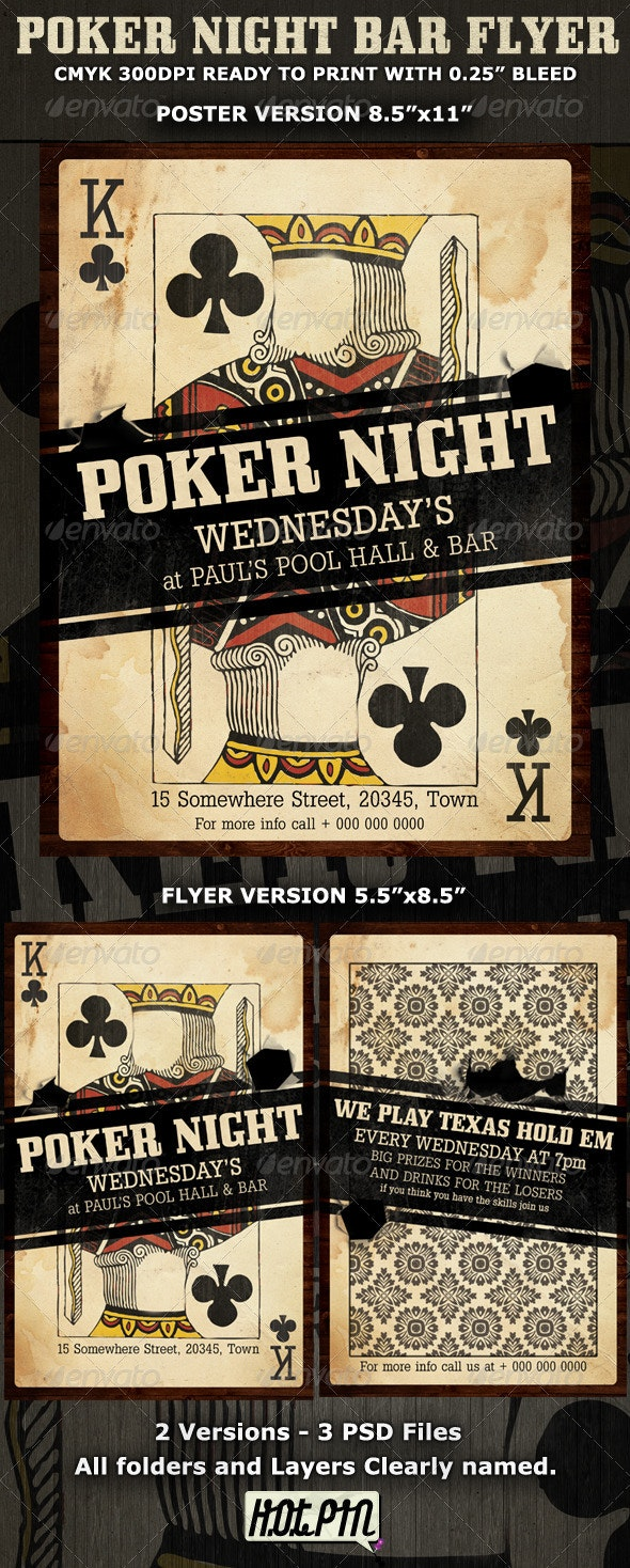 Poker Night Flyer Template - Sports Events