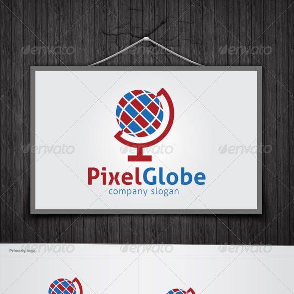 Pixel Globe Logo