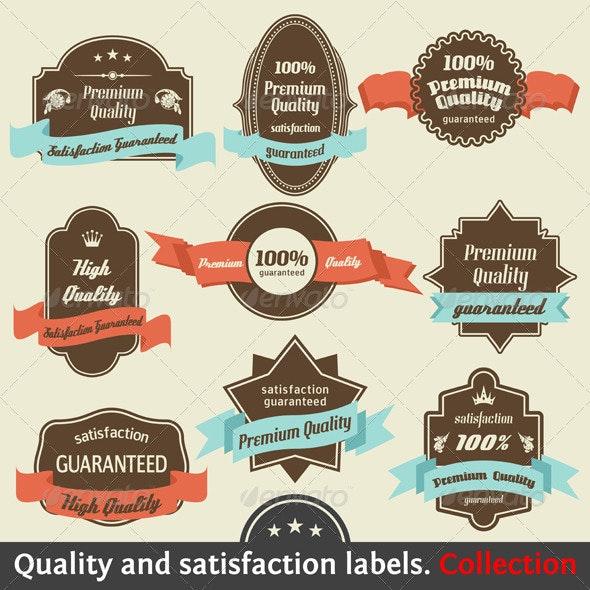 Vintage Premium Quality and Satisfaction Guarantee - Decorative Symbols Decorative
