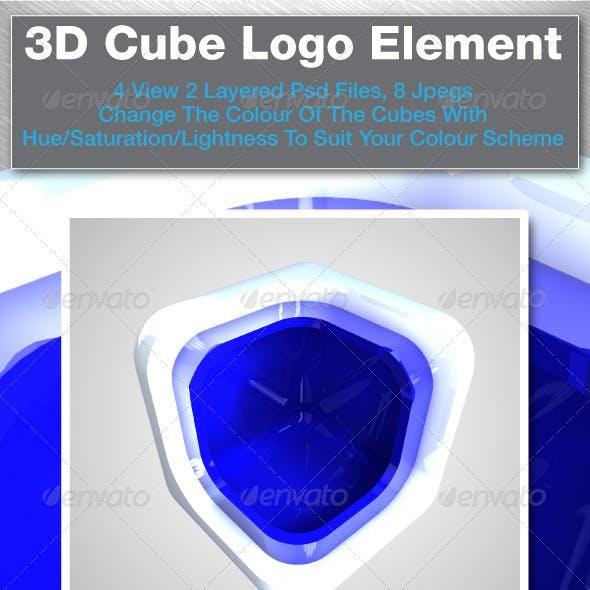 3D Cube Logo Elements
