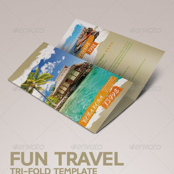 Fun Travel Tri-fold Brochure