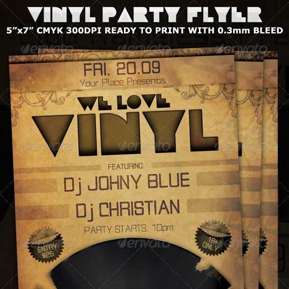 Love Vinyl Party-Club Flyer Template
