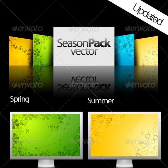 Season pack vector