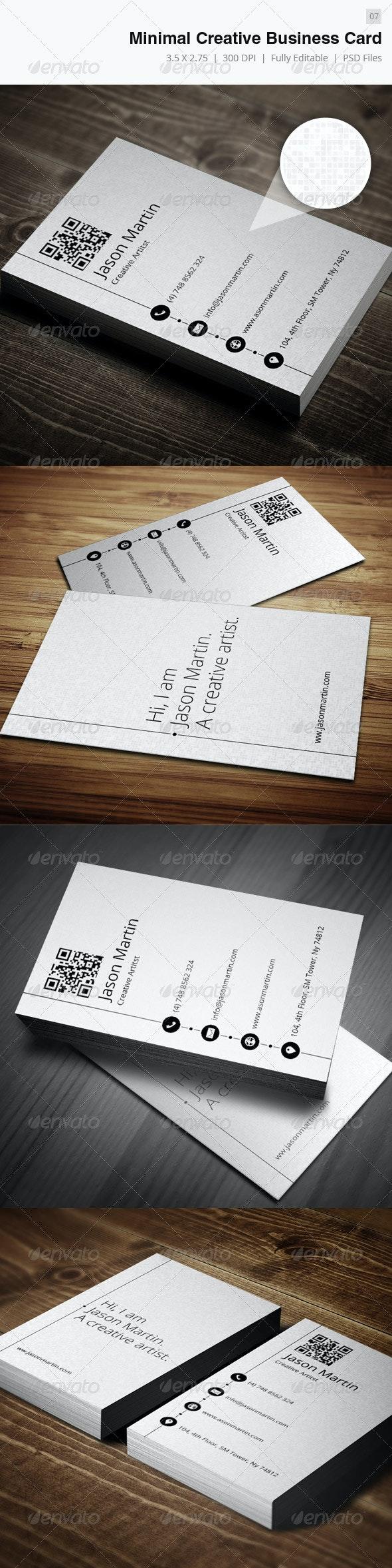 Creative Minimal Business Card - Creative Business Cards