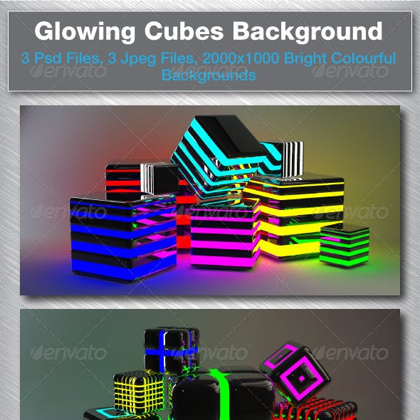 3D Glowing Cubes