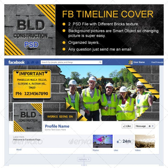 Building Construction Fb Timeline Cover