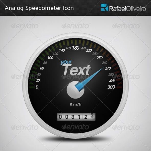 Analog Speedometer Icon
