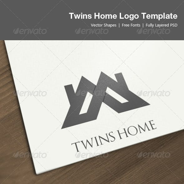 Twins Home Logo Template
