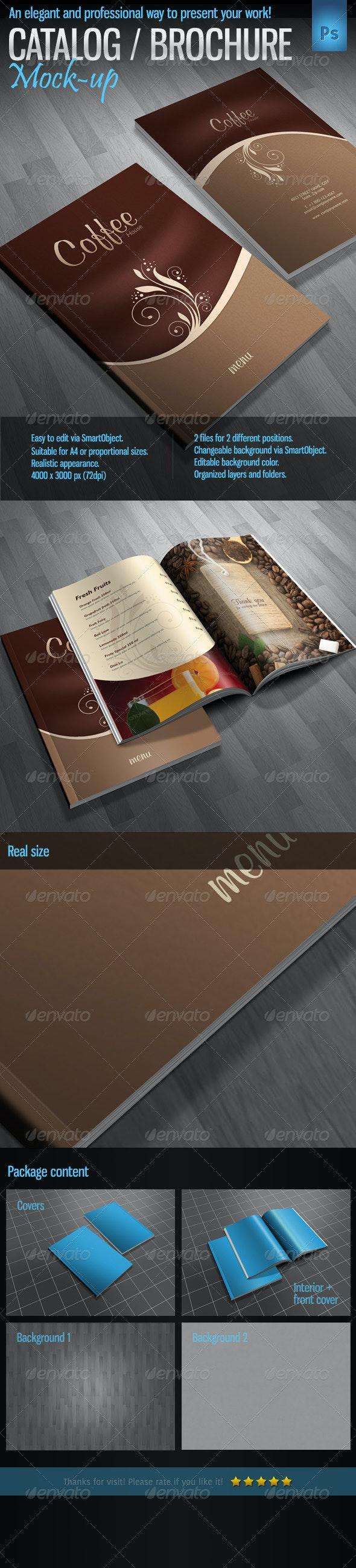 Brochure / Catalog / Magazine Mock-Up - Product Mock-Ups Graphics