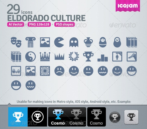 29 AI and PSD Culture strict Icons