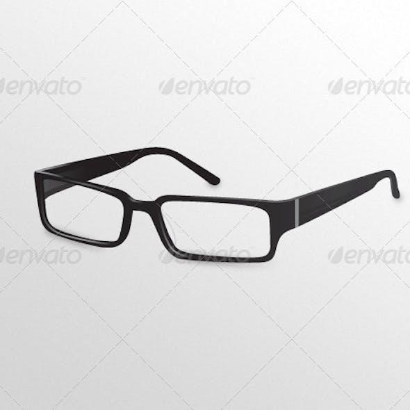 Black Designer Eye Glasses