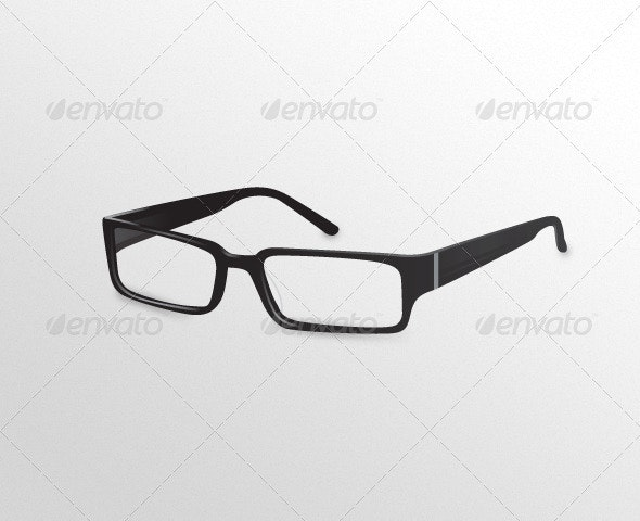 Black Designer Eye Glasses - Objects Vectors