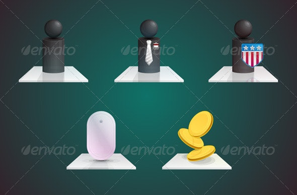 Glass Business Icons - Business Icons