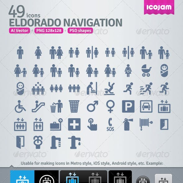 49 AI and PSD Navigation strict Icons