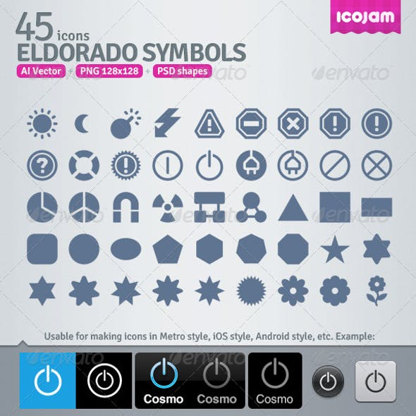 45 AI and PSD Symbols strict Icons