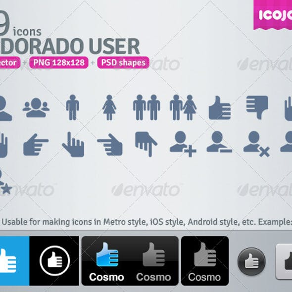 19 AI and PSD User strict Icons