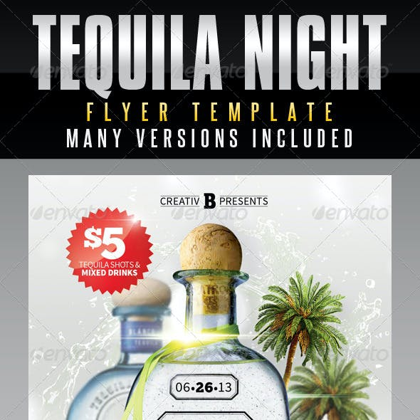 Tequila Night Flyer Template