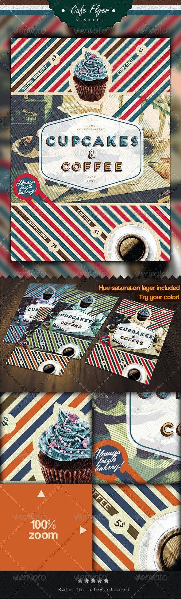 Coffee & Cupcake Flyer - Restaurant Flyers