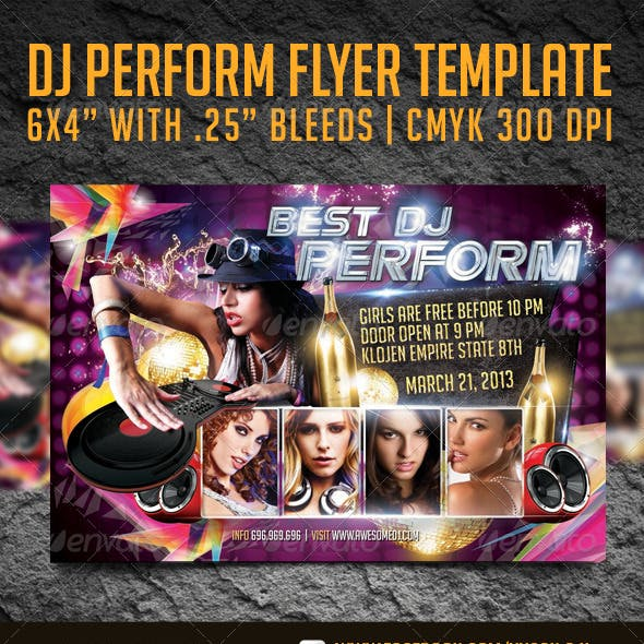 DJ Performance Flyer