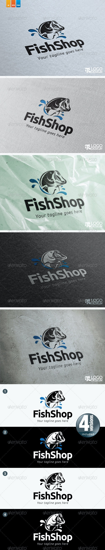 Fish Shop - Animals Logo Templates