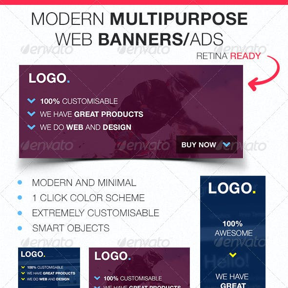 Modern Multipurpose Web Banners/Ads