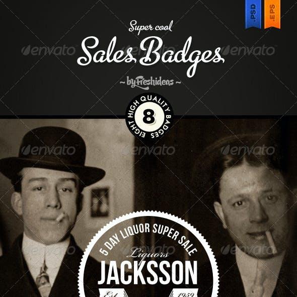 Vintage Sales Badges