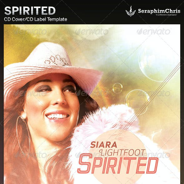 Spirited: CD Cover Artwork Template